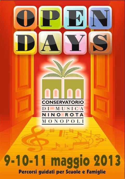 open days conservatorio monopoli
